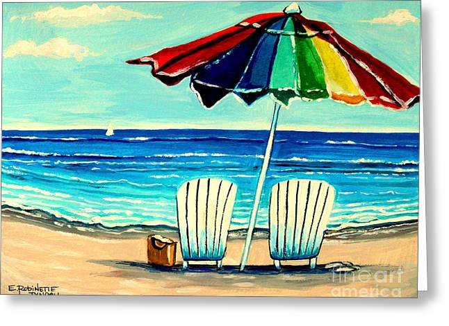 Ocean Art. Beach Decor Greeting Cards - Lazy Days Greeting Card by Elizabeth Robinette Tyndall