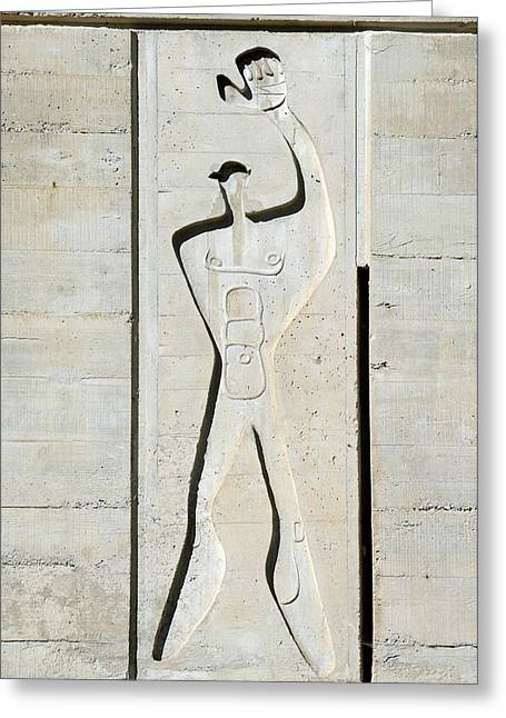 Le Corbusier Design Greeting Card by Chris Hellier