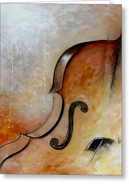 Vital Germaine Greeting Cards - Le Violoncelle Greeting Card by Vital Germaine