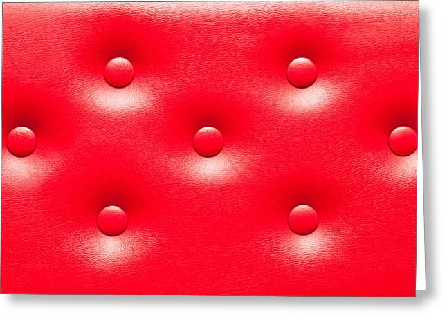 Boutique Design Greeting Cards - Leather upholstery Greeting Card by Tom Gowanlock