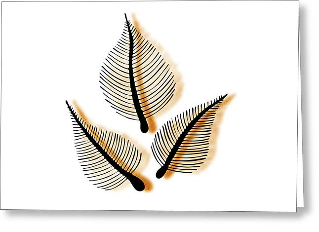 Leaves Greeting Card by Frank Tschakert