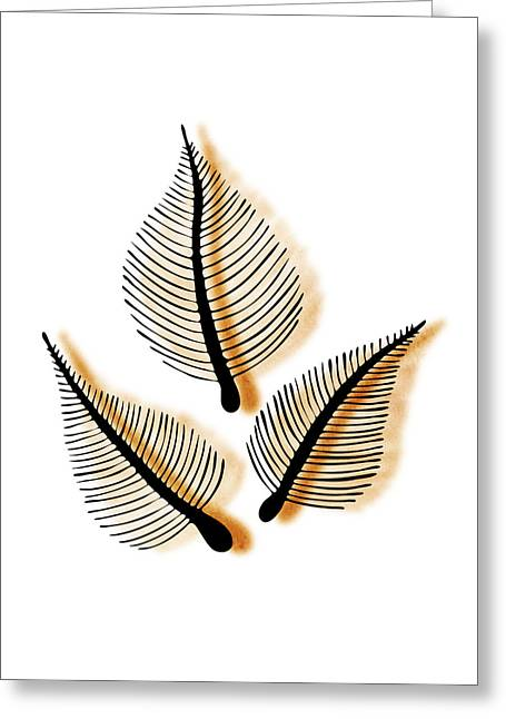 Condolences Greeting Cards - Leaves Greeting Card by Frank Tschakert