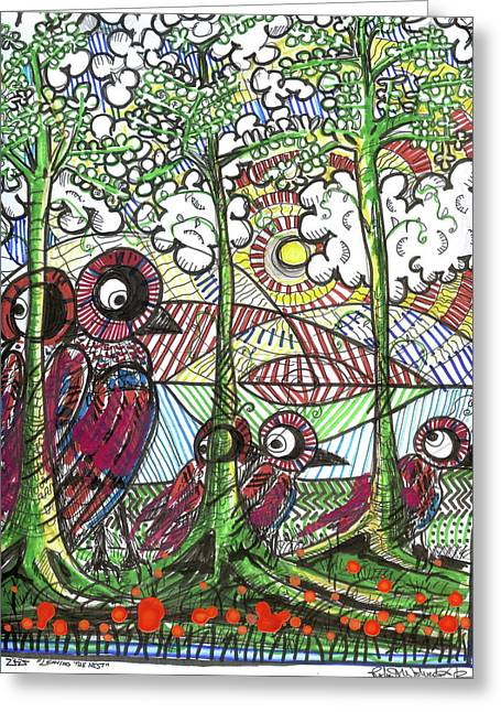 Life Lesson Greeting Cards - Leaving The Nest Greeting Card by Robert Wolverton Jr
