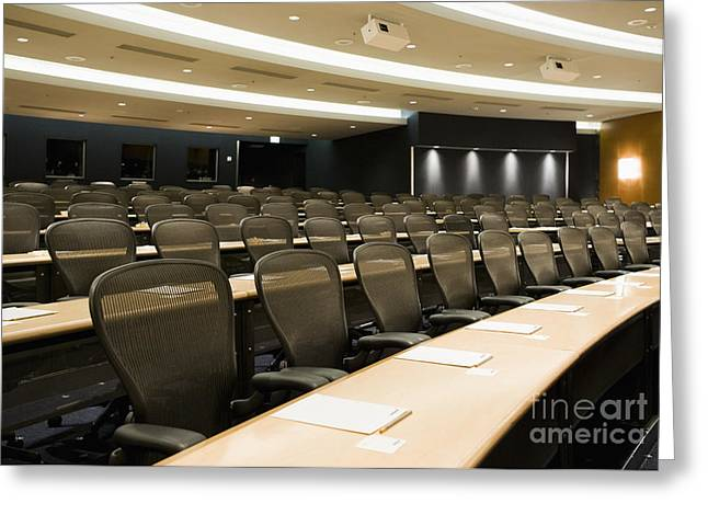 """""""meeting Room"""" Greeting Cards - Lecture Hall Greeting Card by Andersen Ross"""