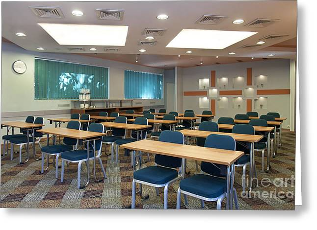 """""""meeting Room"""" Greeting Cards - Lecture Room in Hotel Greeting Card by Jaak Nilson"""