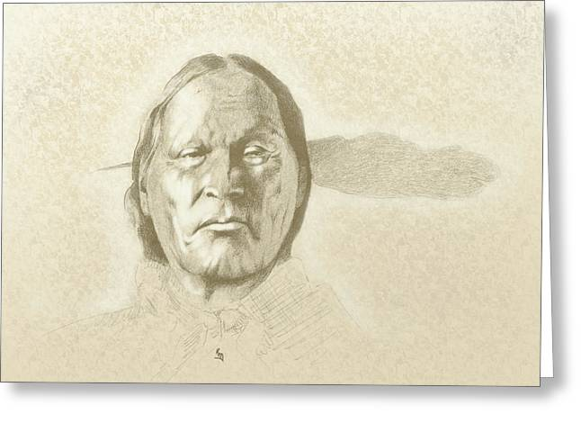 Face In Profile Greeting Cards - Left Hand Greeting Card by Robert Martinez