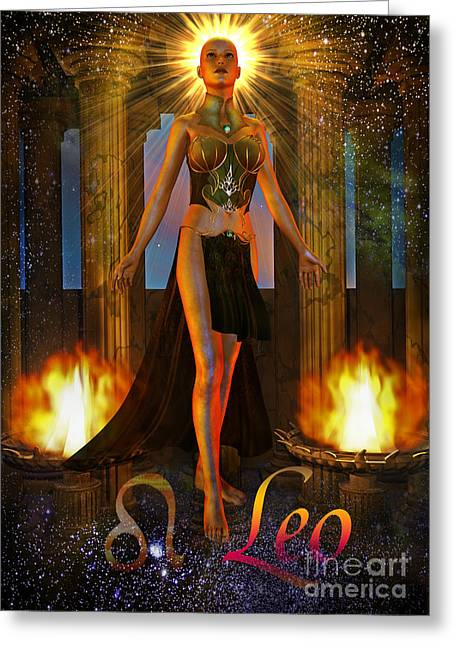 leo Greeting Card by Shadowlea Is