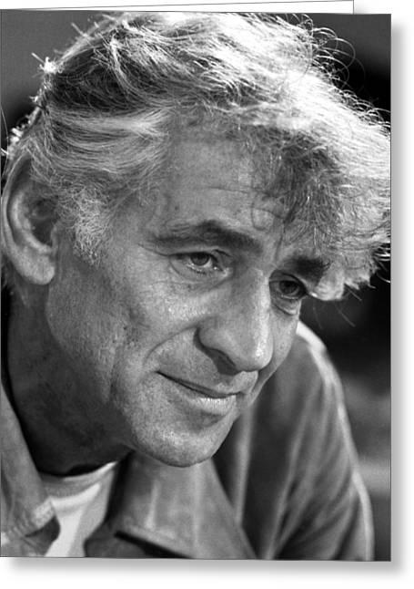 Bernstein Greeting Cards - Leonard Bernstein Greeting Card by Granger