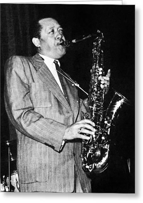 1950s Portraits Greeting Cards - Lester Young (1909-1959) Greeting Card by Granger