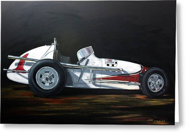 Indy Car Greeting Cards - Lets Race Greeting Card by Cindy Cradler