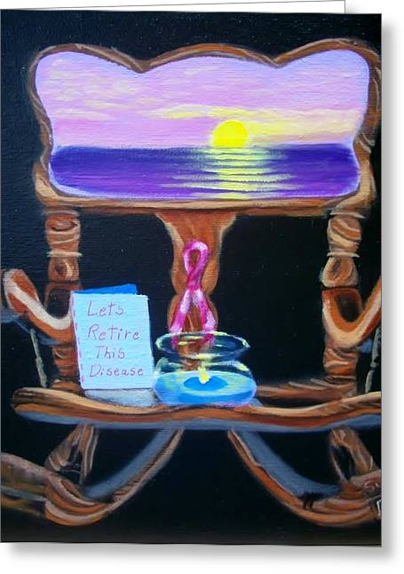 Susan Roberts Greeting Cards - Lets Retire this disease Greeting Card by Susan Roberts
