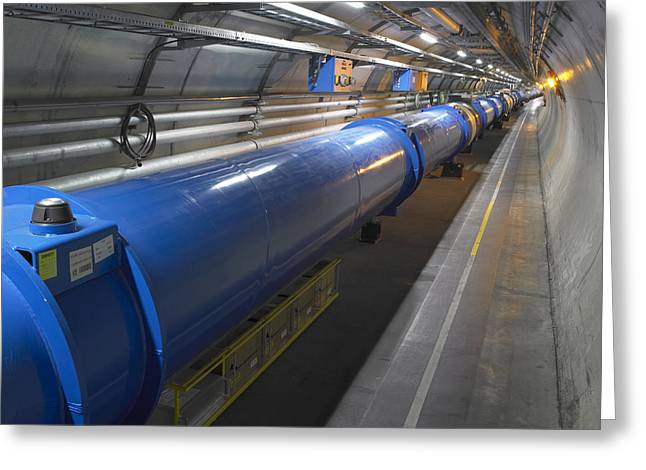 Lhc Greeting Cards - Lhc Tunnel, Cern Greeting Card by David Parker