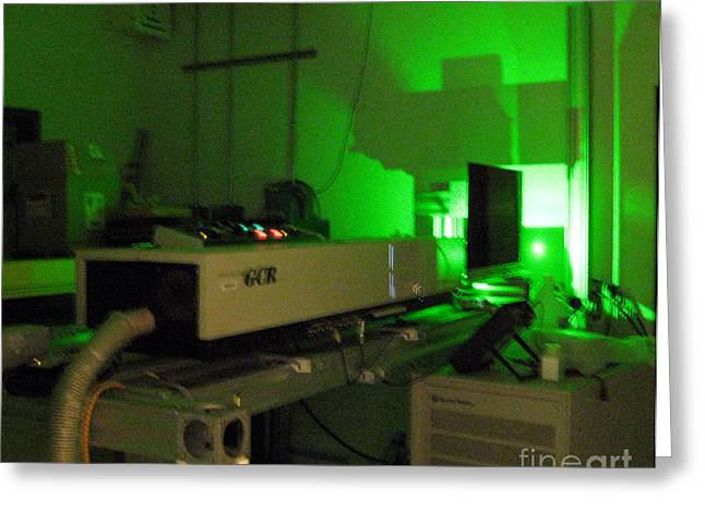 Loa Greeting Cards - Lidar Beam, Light Detection And Ranging Greeting Card by Science Source