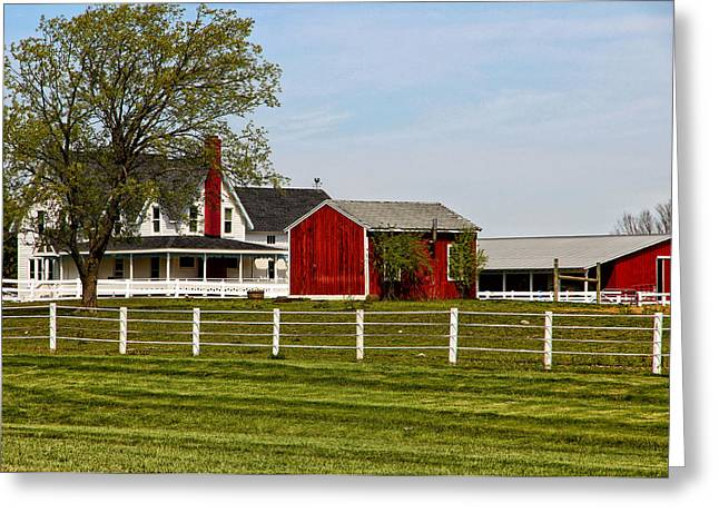 Michigan Farmhouse Greeting Cards - Life on the Farm Greeting Card by Rachel Cohen