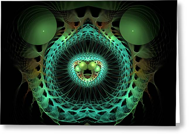 Geometrical Art Greeting Cards - Life Springs Forth Greeting Card by Carolyn Marshall