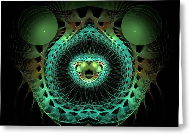 Geometric Digital Art Photographs Greeting Cards - Life Springs Forth Greeting Card by Carolyn Marshall