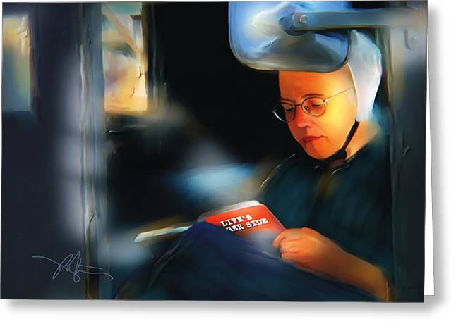 Amish Greeting Cards - Lifes Other Side Greeting Card by Bob Salo