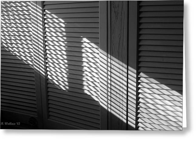 Crosshatching Greeting Cards - Light And Shadow Greeting Card by Brian Wallace