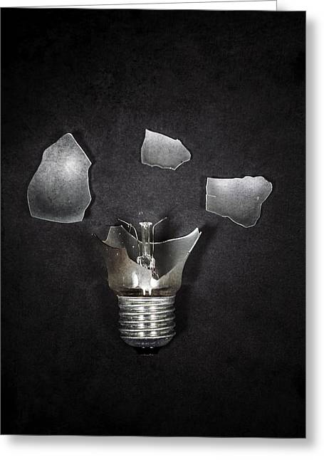 Bulb Greeting Cards - Light Bulb Greeting Card by Joana Kruse