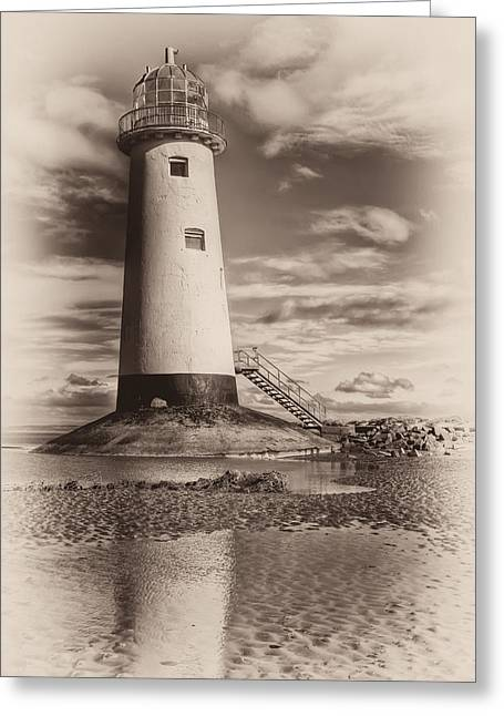 Talacre Greeting Cards - Lighthouse  Greeting Card by Adrian Evans