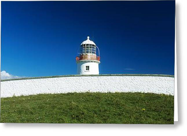 Lighthouse At St Johns Point, Donegal Greeting Card by The Irish Image Collection