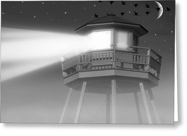 Look A Like Greeting Cards - Lighthouse Dreaming  Greeting Card by Brian Wallace