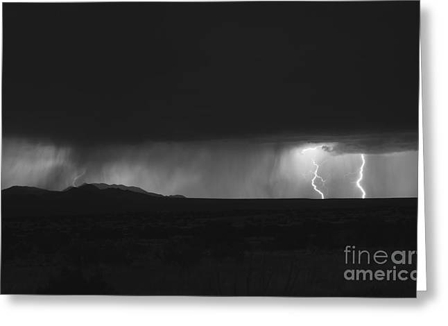 New Energies Greeting Cards - Lightning Storm Over Northern New Greeting Card by Roth Ritter