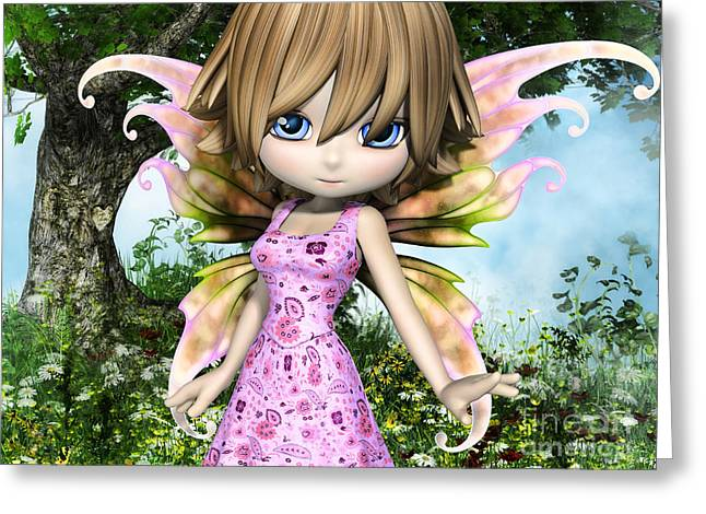 Gremlin Greeting Cards - Lil Fairy Princess Greeting Card by Alexander Butler
