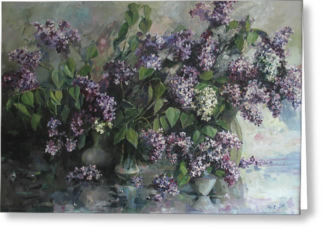 Lilacs Greeting Card by Tigran Ghulyan