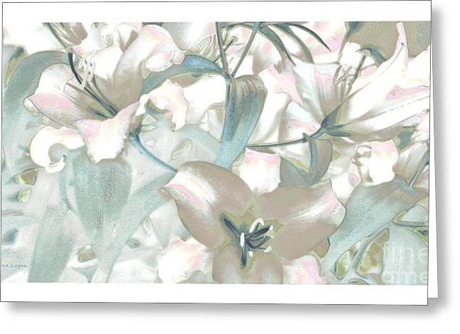 Lilies Framed Prints Greeting Cards - Lily Garden Greeting Card by Jayne Logan Intveld