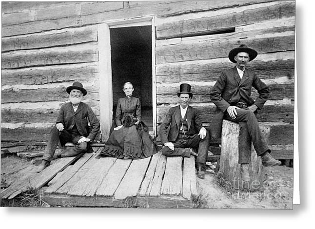 Log Cabin Photographs Greeting Cards - LINCOLN CABIN, c1891 Greeting Card by Granger