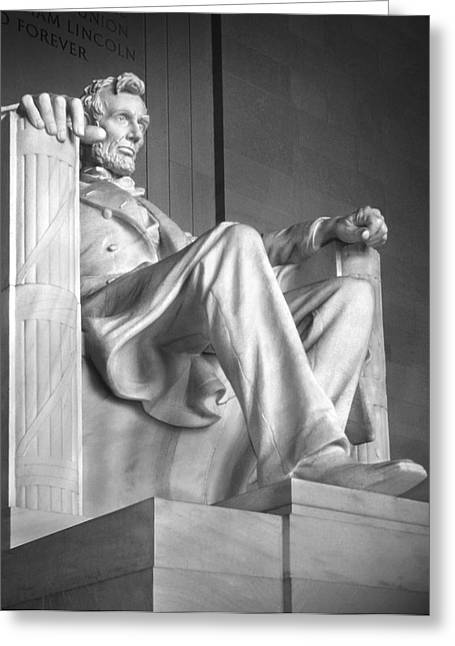 District Of Columbia Greeting Cards - Lincoln Memorial Greeting Card by Mike McGlothlen