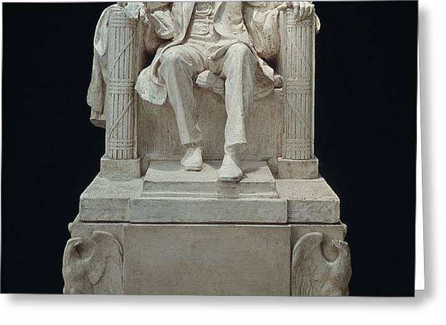 LINCOLN MEMORIAL: STATUE Greeting Card by Granger