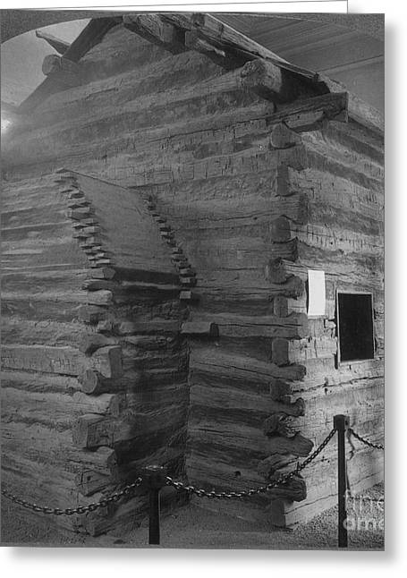 Log Cabins Photographs Greeting Cards - Lincolns Birthplace Greeting Card by Granger