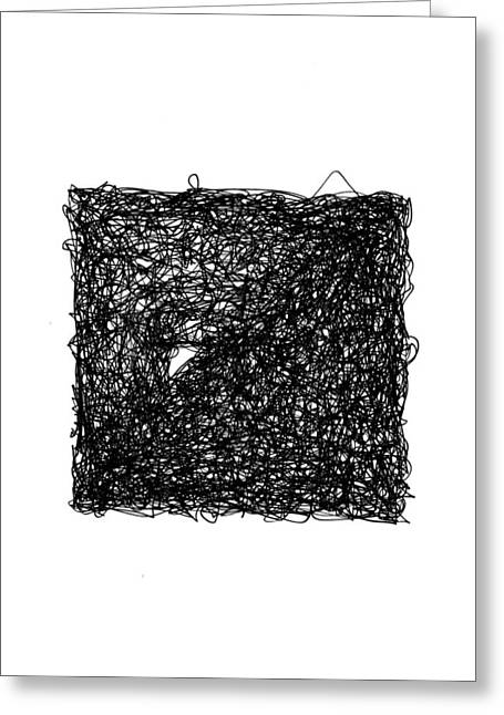 Pen And Ink Drawings For Sale Drawings Greeting Cards - Line 6 Greeting Card by Rozita Fogelman