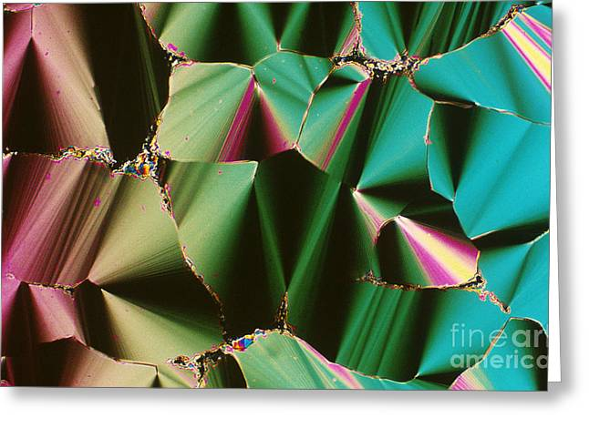 Transmit Greeting Cards - Liquid Crystalline Dna Greeting Card by Michael W. Davidson