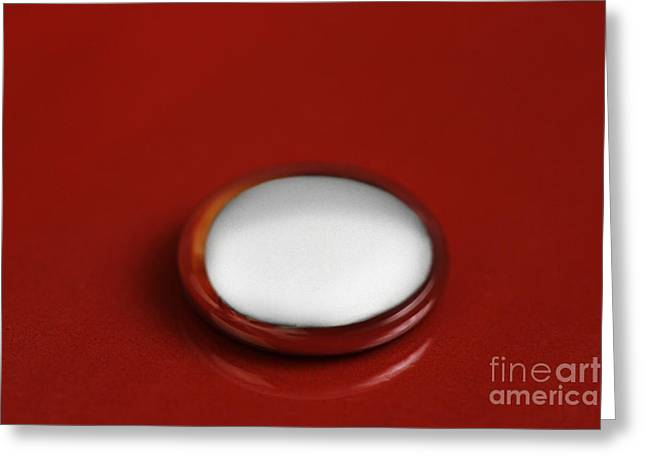 Quicksilver Greeting Cards - Liquid Mercury Greeting Card by Photo Researchers, Inc.
