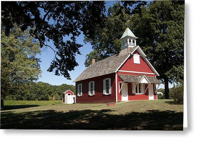 Little Red School House  Greeting Card by Charles Kraus