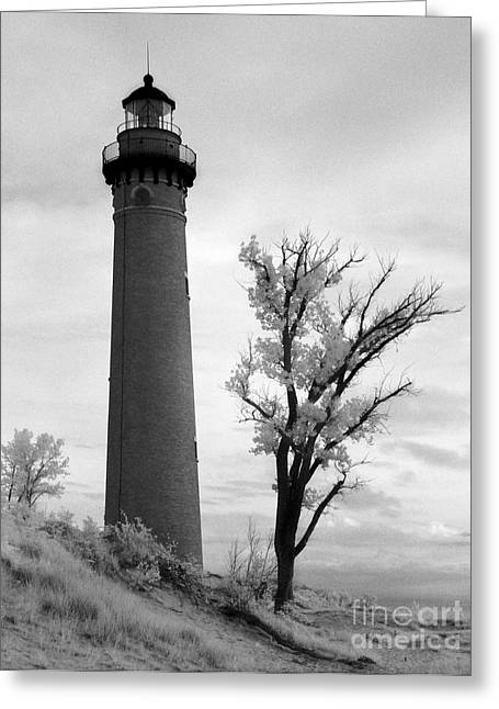 Jeff Holbrook Greeting Cards - Little Sable Point Lighthouse Greeting Card by Jeff Holbrook