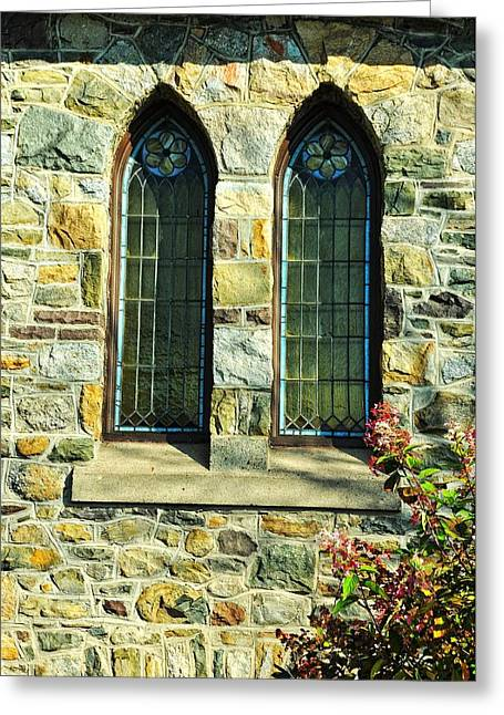Bird Congregation Greeting Cards - Little Stone Church Greeting Card by JAMART Photography
