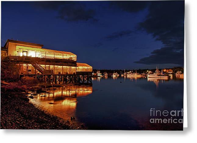 New England Village Greeting Cards - Lobster Pound Greeting Card by John Greim