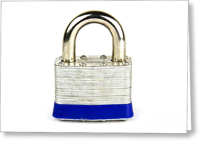 Cyberspace Greeting Cards - Lock Greeting Card by Blink Images
