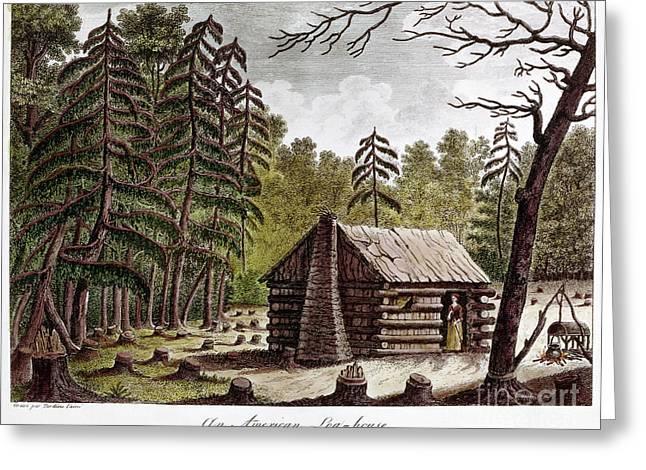Log Cabins Greeting Cards - Log Cabin, 1826 Greeting Card by Granger