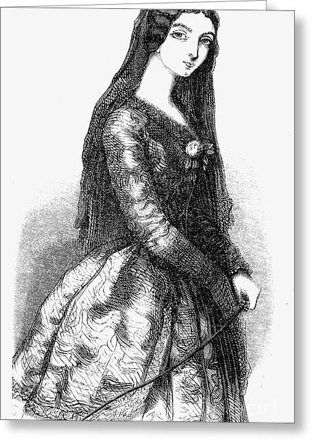 Dolores Greeting Cards - Lola Montez (1818-1861) Greeting Card by Granger