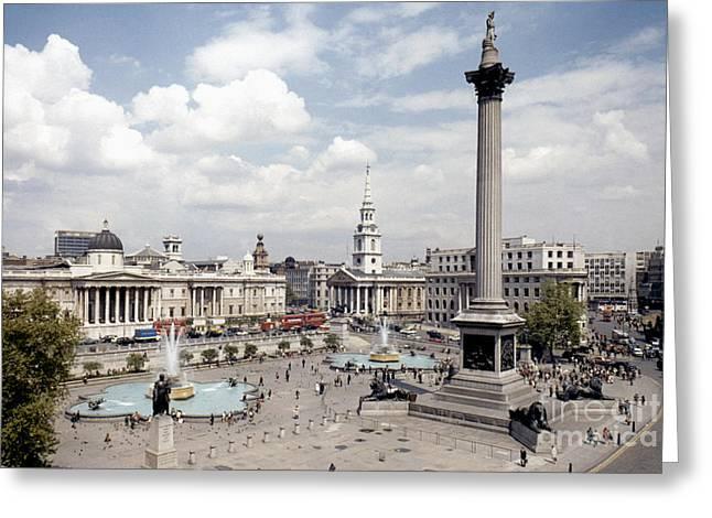 Trafalgar Greeting Cards - London: Trafalgar Square Greeting Card by Granger