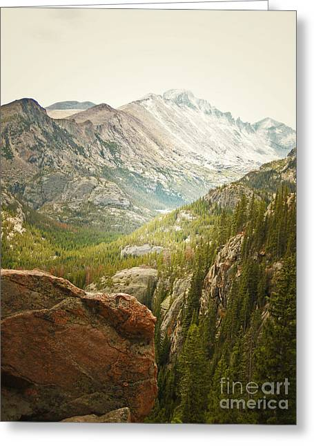 Rocky Mountain National Park Framed Prints Greeting Cards - Longs Peak Greeting Card by Andrea Hazel Ihlefeld