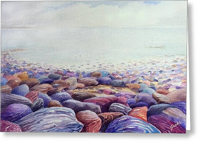 Pebbles Greeting Cards - Looking East Greeting Card by Merv Scoble