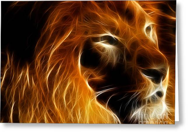 Lord Of The Jungle Greeting Card by Wingsdomain Art and Photography