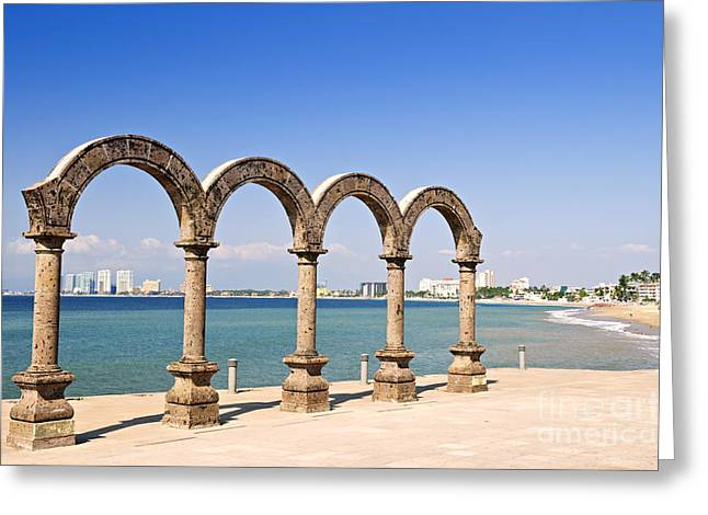 Amphitheater Greeting Cards - Los Arcos Amphitheater in Puerto Vallarta Greeting Card by Elena Elisseeva