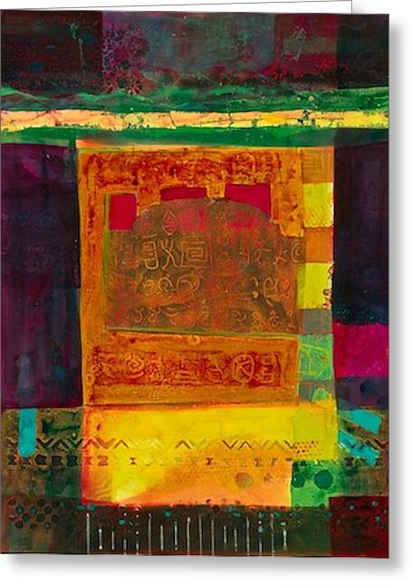 Ultra Modern Mixed Media Greeting Cards - Lost In The Desert Greeting Card by Marie Cummings